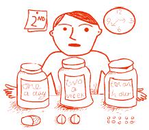 Man with medicines