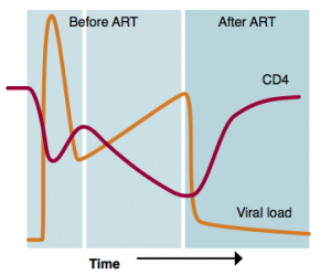 Art in pictures - overlapping CD4 and VL graphic