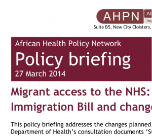 AHPN briefing cover