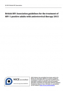 BHIVA 2015 guidelines cover