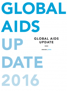 UNAIDS 2016 report cover