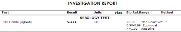 Test result nummber