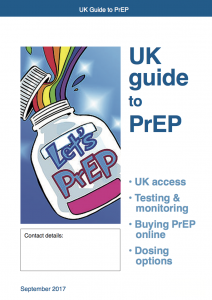 PrEP leaflet Sep 2017 cover